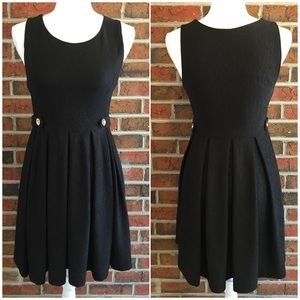 Ya Los Angeles Black Dress with Gold Tone Buttons